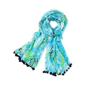 Murfree scarf spa blue let's cha cha